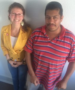 Gerardo with Project Access NOW employee Sasha Viches