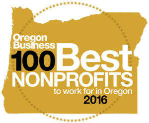 100 Best Nonprofits to Work for in Oregon - 2016 Logo