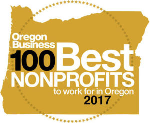 100 Best Nonprofits to Work for in Oregon - 2017 Logo
